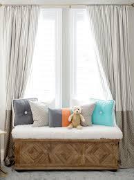 khaki nursery curtains with pom pom trim dalmatian spots crib