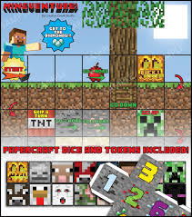 minecraft board game great for party favours mineventure diy