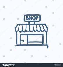 shop store vector sketch icon isolated stock vector 438914659