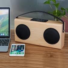 Review Bookshelf Speakers Video Review Archeer Portable Bluetooth Speaker Wood Grain