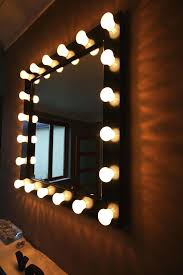 mirror with light bulbs awesome vanity mirror with light bulbs
