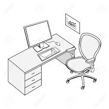 dessin de bureau table école dessin urbantrott com