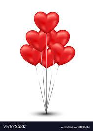 Shiny heart balloons background Royalty Free Vector Image