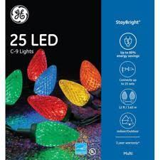 c9 led christmas lights ge 70 staybright muti color led c9 lights reel christmas c 9