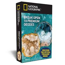 national geographic break open 10 geodes explore crystals science