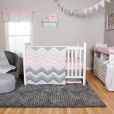 trend lab cotton candy chevron 3 piece crib bedding set toys