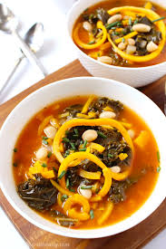 Butternut Squash And White Bean Soup Kale And Butternut Squash Noodle Soup C It Nutritionally