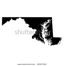 maryland map vector maryland map vector illustration stock vector 628577618