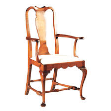 Queen Anne Armchair D R Dimes Queen Anne Arm Chair Formal Dining Chairs