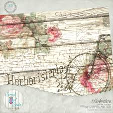 herboristerie shabby chic wall decor roses decoupage home