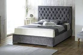 Bed Frame Foot Velvet Sleigh Bed Low Foot Special Princess Sleigh Bed Frame