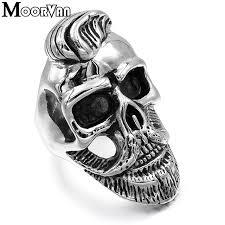 cool skull rings images Moorvan usd 1 99 pc old gentleman beard skull ring punk rock cool jpg