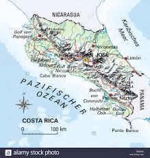Ocean Maps Cartography Maps America Costa Rica Circa 2000 Central
