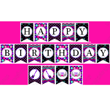rockstar printable happy birthday banner