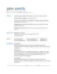 Standard Resume Templates Student Resume Template Word High Resume Template Word