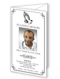 tri fold program funeral program templates trifold praying