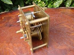 Mantle Clock Repair Antique Vintage Old German Fusee Clock Movement For Spare Or