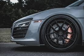 Audi R8 Grey - audi r8 brixton forged wheels
