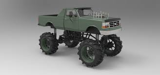 dodge mud truck mud truck 3d model cgtrader