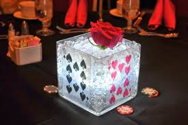 theme centerpiece floral casino centerpieces themed events las vegas centerpiece
