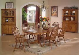 Light Oak Dining Room Sets Solid Oak Dining Table Arrowback Chair Set By E C I Furniture