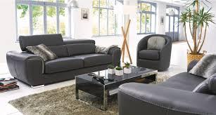 canap cuir mobilier de grand canapé 3 places 2 têtières relevables modéle canberra