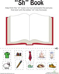 first grade phonics worksheets u0027sh u0027 words a word family book