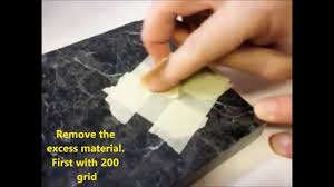repair a chip in granite counter top fast and easy diy repair