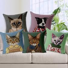 Home Decor Throw Pillows by Sofa Throw Pillows Fashion High Quality Cotton Linen Animal Ink