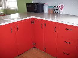 kitchen minimalist look kitchen cabinet refinishing idea red