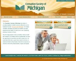 cremation society of michigan funeralnet custom funeral home website design cremation