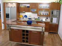 kitchen best kitchen small space with brown wod breakfast bar