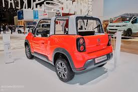 citroen mehari electric citroen goes to extremes in geneva with white and psychedelic