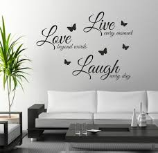 Wall Decor Stickers by Aliexpress Buy Foodymine Live Laugh Wall Sticker