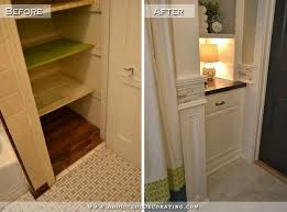 bathroom closet ideas diy bathroom remodel before after