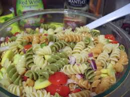 rotini pasta salad w italian dressing u0026 summer squash youtube