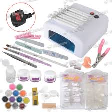 uk shipping uv lamp dryer light nail art acrylic pen brush powder