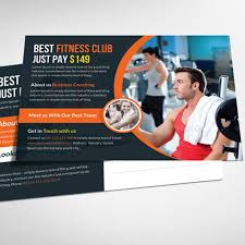 health and fitness postcard psd template template free download on