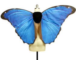 Blue Butterfly Halloween Costume Fairy Wings Large Monarch Butterfly Costume Wings Butterfly