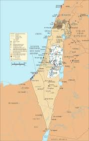 Map Of Al Map Of Israel And The Occupied Palestinian Territories