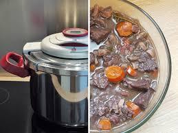 cuisine cocotte minute boeuf bourguignon à l autocuiseur cuisine téméraire