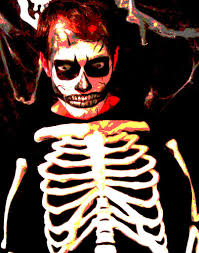 Halloween Skeleton Faces by How To Face Paint The Creepy Skull 5 Steps With Pictures