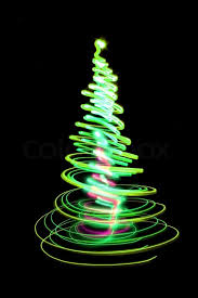 black colored christmas lights christmas tree form the color lights on the black background stock