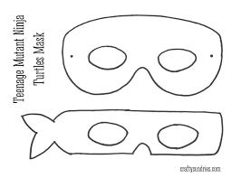 10 best images of printable ninja turtle mask stencil ninja
