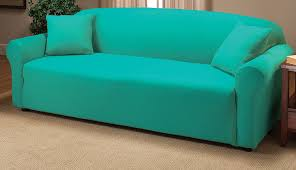 amazon com madison stretch jersey sofa slipcover solid aqua