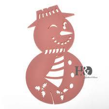 online shop laser cut pink paper snowman 120pcs wedding