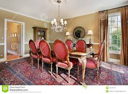dining room with gold walls stock image image 16476113