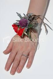 Red Rose Wrist Corsage Shop Scottish Purple Thistle Red Rose Wedding Wrist Corsage W