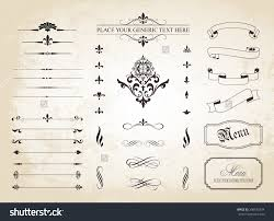 this image is a set of vintage decorative ornament borders and