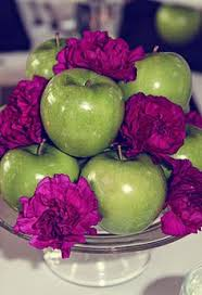 Apple Centerpiece Ideas by Florida Orange Wedding By Ashton Events And Sunglow Photography